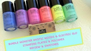 🌳🐢🐉Bundle Monster Mystic Woods & Electro Glo - Review & Swatches🐉🐢🌳