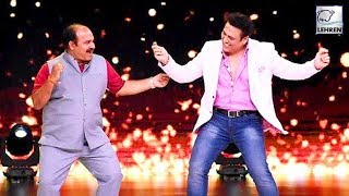 Govinda Meets Dancing Uncle Sanjeev Shrivastav On 'Dance Deewane' Sets