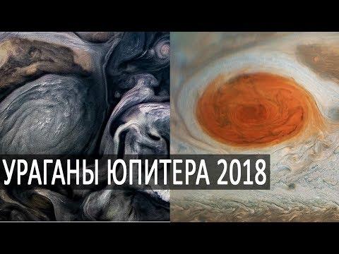 ЮПИТЕР 2018, УРАГАНЫ, Большое красное пятно, Облака Юпитера, Температуры северного полюса Юпитера