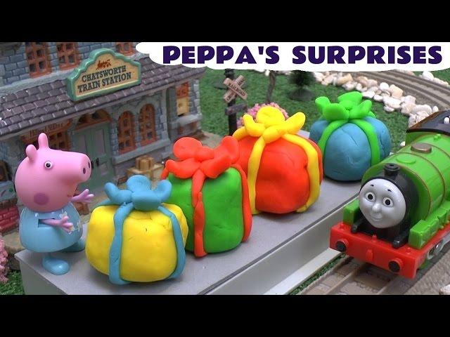 Peppa Pig Cartoon 2015 Offical Website Play Doh Christmas Peppa Pig Espanol Surprise Eggs Kinder Surprise Toys