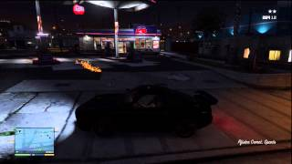 GTA V(5) Robbing a Gas Station, Burning it Down, Making a Getaway GAMEPLAY!