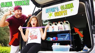 SECRET SLIME TRUCK! SHE CAUGHT US SELLING IT AT SCHOOL!