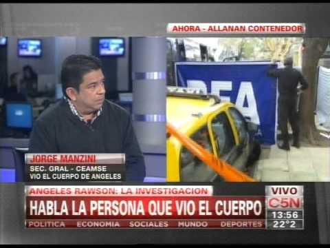 C5N - CRIMEN DE ANGELES RAWSON: LA INVESTIGACION HABLA LA PERSONA QUE ENCONTRO EL CUERPO