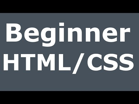 Basic HTML and CSS Website for Beginners