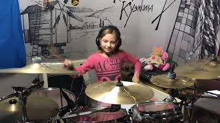 Wizards In Winter By Trans Siberian Orchestra Drum Kate Kuziakina Age 9 Tama Drum Kit