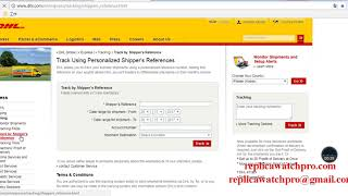 How to track DHL shipper's reference number