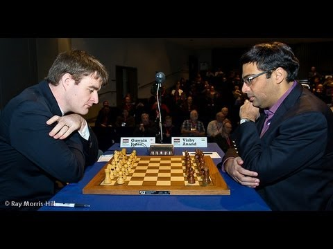 Gawain Jones vs Anand Londres 2012 Anand crushes Gawain Jones London 2012