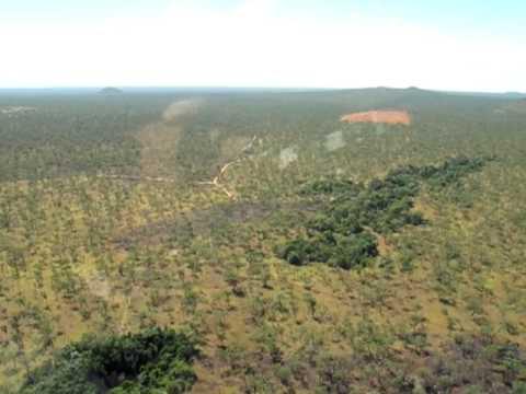 Undara Lava Tubes from the Air