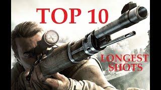 TOP 10 Longest Shots at Sniper Elite