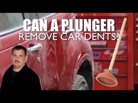 pop dent out of a car with plunger how to save money and do it yourself. Black Bedroom Furniture Sets. Home Design Ideas