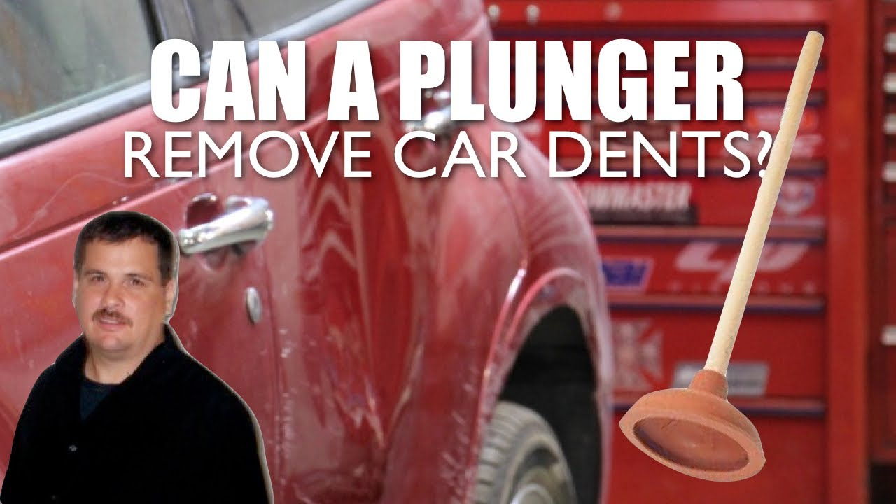 pop dent out of a car with plunger youtube. Black Bedroom Furniture Sets. Home Design Ideas