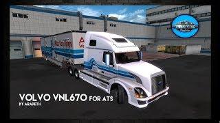 American Truck Simulator | Aradeth Volvo VNL670 1.5.3 | Atlas Van Lines Trailer Skin