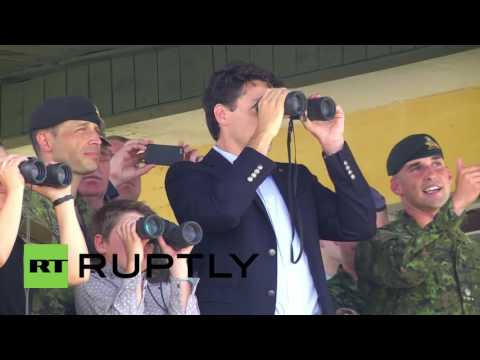 Ukraine: Justin Trudeau inspects troops during official visit to Ukraine