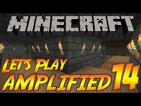 Minecraft Let's Play AMPLIFIED Survival Episode 14: Base Work