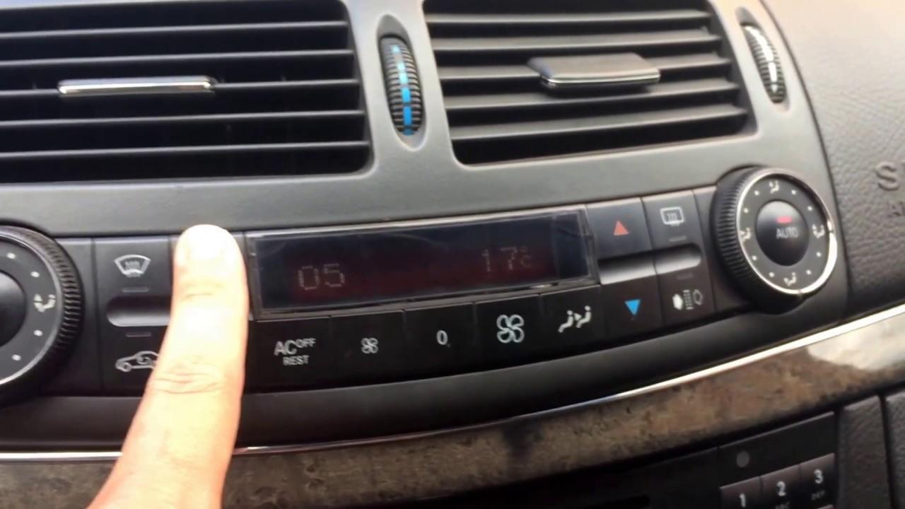Как снять сам климат контроль на w140