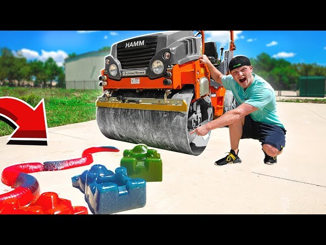CRUSHING SATISFYING THINGS BY STEAMROLLER! SOFT, CRUNCHY, GUMMY! thumbnail