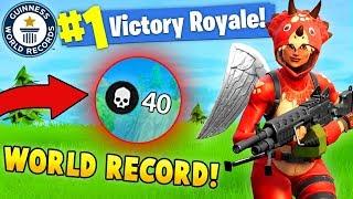 40 KILLS BY 1 PLAYER!? WORLD RECORD! (Fortnite Solo FAILS & WINS #7)