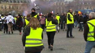 Gilets jaunes : début de l'acte 18 à Paris