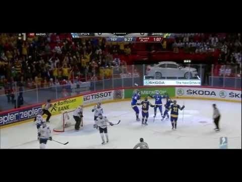 1/2-Final SWEDEN - FINLAND 3:0 █ IIHF WC 2013 █ Goals Sverige Ishockey VM
