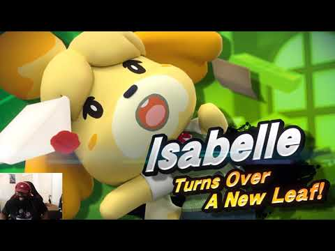 NEW ANIMAL CROSSING ANNOUNCED AND ISABELLE REVEALED FOR SUPER SMASH BROS ULTIMATE! REACTION