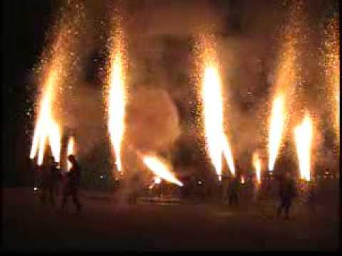三谷温泉「手筒花火」
