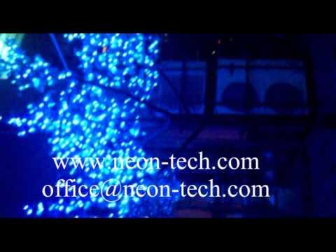 RGB LED tree lights cherry christmas tree lighting fixtures LED coconut palm tree light
