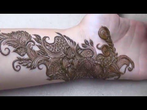 Indo Arabic Dubai Henna Mehndi Style(2016 Best Wedding Mehandi Design)