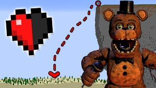 98.99% IMPOSSIBLE TO ESCAPE FNAF FREDDY FAZBEAR WITH HALF A HEART IN MINECRAFT