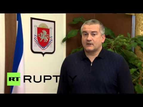 Russia: Crimean PM hails renewed Russian gas supply to Ukraine's Genichesk