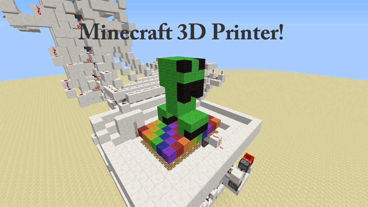 Minecraft 100 Working Printer Tutorial