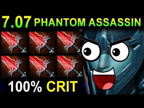 CRITICAL PHANTOM ASSASSIN - DOTA 2 PATCH 7.07 NEW META PRO GAMEPLAY