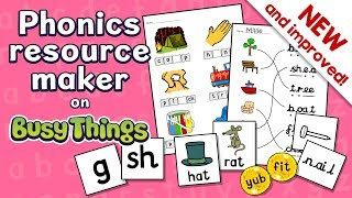 Phonics Resources Maker on Busy Things