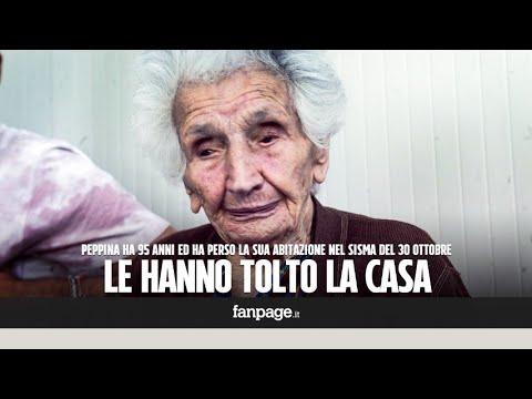 Peppina, la terremotata di 95 anni sfrattata: