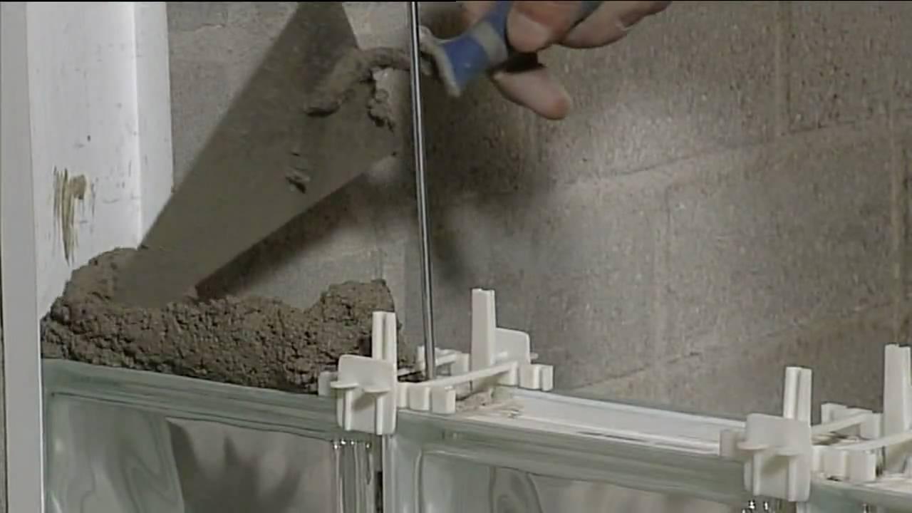 Metselen glazen bouwstenen   Beamix   YouTube