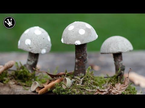 DIY - Herbstdeko Selbermachen | Pilze Aus Beton | Herbstliche Tischdeko | How To