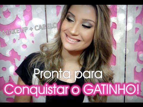 Pronta para conquistar o GATINHO! Maquiagem + Cabelo - Por Bianca Andrade