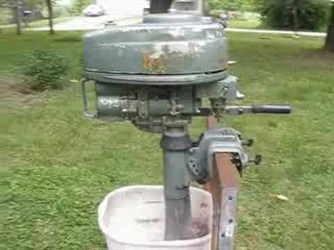 Vintage 1951 elgin 5hp outboard for sale youtube for 5hp outboard motor for sale