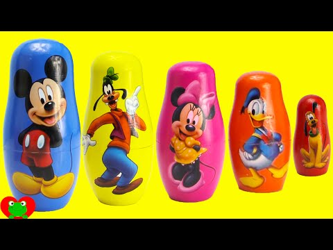 Mickey Mouse Club House Friends Nesting Dolls with Surprises