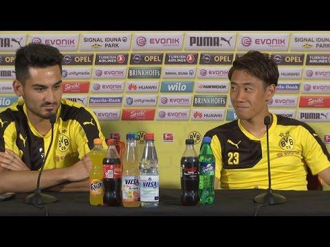 Pressekonferenz: Ilkay Gündogan und Shinji Kagawa im Interview