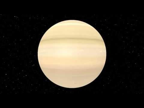 Rotation de la planète Saturne