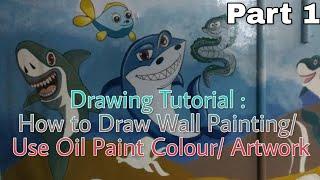 Drawing Tutorial : Wall Painting Design ideas/ Artwork/ Homemade Art.