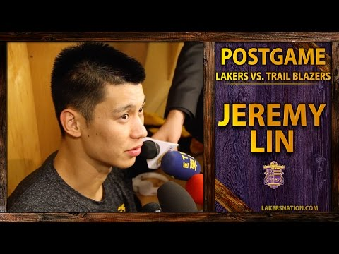 Lakers vs. Trail Blazers: Jeremy Lin, 'Felt Like I Played 62 Minutes!'