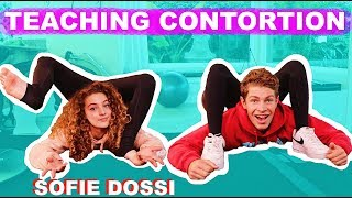SOFIE DOSSI TEACHES ME CONTORTION! *painful*