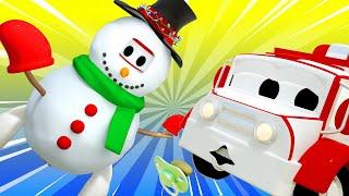 đội xe tuần tra - มนุษย์หิมะเหมือนผี - Thành phố xe 🚗 những bộ phim hoạt hình về xe tải