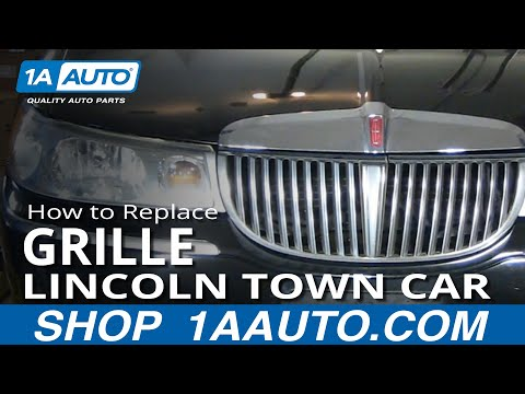 How To Install Repair Replace Broken Grille Lincoln Town Car 98-02 1AAuto.com