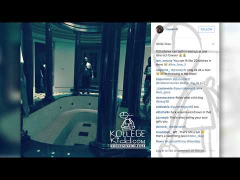 Meek Mill Provides Inside Look Into Rick Ross' Mansion