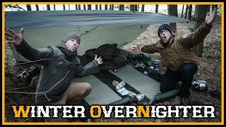 24h Winter Übernachtung / Overnighter am See - Bushcraft Outdoor Camping