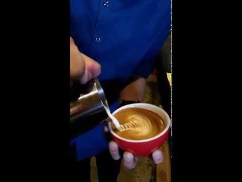 Coffee Nowhere Chief Barista Trevor.
