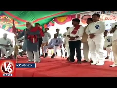 Folk Singer Gaddar Unveils Dr BR Ambedkar Statue In Siddipet District | V6 News