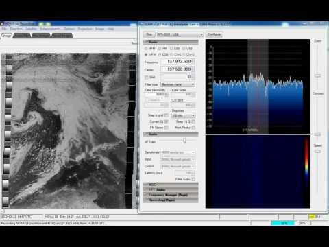 Receiving NOAA weather satellite using SDR# and WXtoImg
